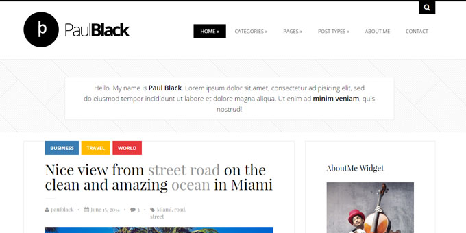 PaulBlack - Cheap WordPress Magazine Themes