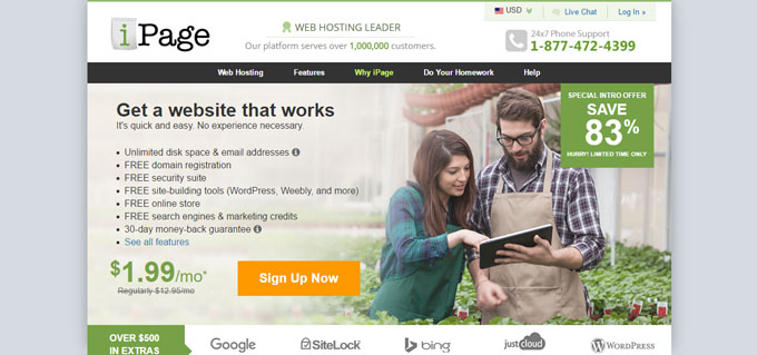 iPage - Top 10 Blog Hosting Sites