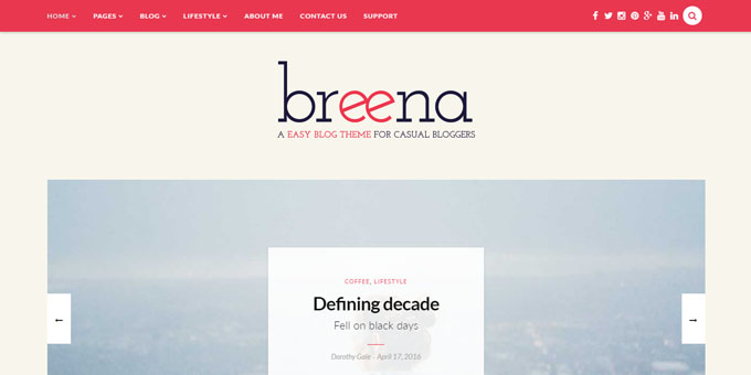 Breena - Cheap WordPress Designs