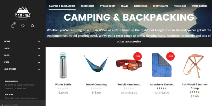 Camping - Cheap WordPress Designs