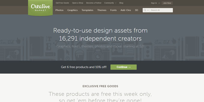 Creative Market - Best Places To Buy WordPress Themes