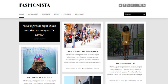 Fashionista - Cheap WordPress Designs