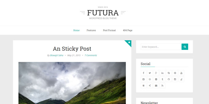 Futura - Cheap WordPress Designs