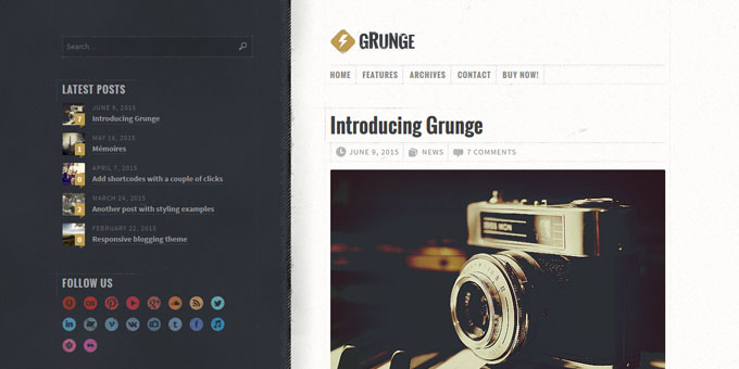 Grunge - Cheap WordPress Designs