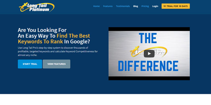 LongTailPro - Best Keyword Research Tools 2017