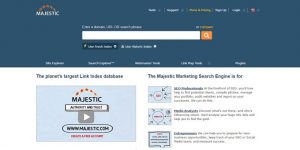 Majestic - Best Keyword Research Tools 2017
