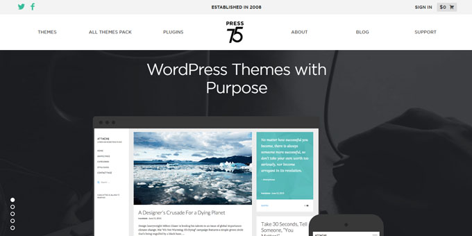 Press75 - Best Places To Buy WordPress Themes