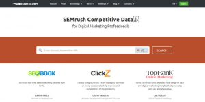 SEMRush - Best Keyword Research Tools 2017