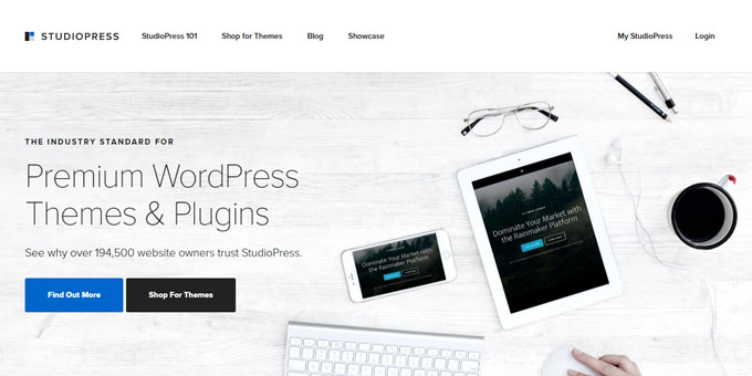StudioPress - Best Places To Buy WordPress Themes