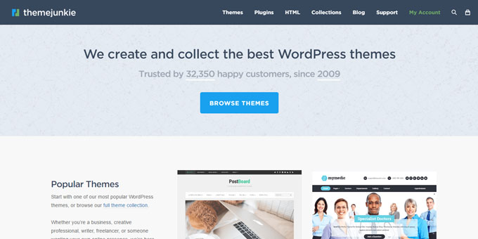 Theme Junkie - Best Places To Buy WordPress Themes