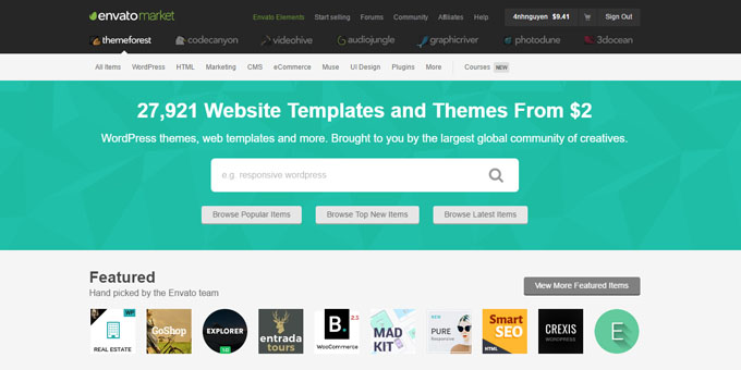 ThemeForest - Best Places To Buy WordPress Themes