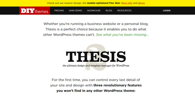 Thesis design options wordpress
