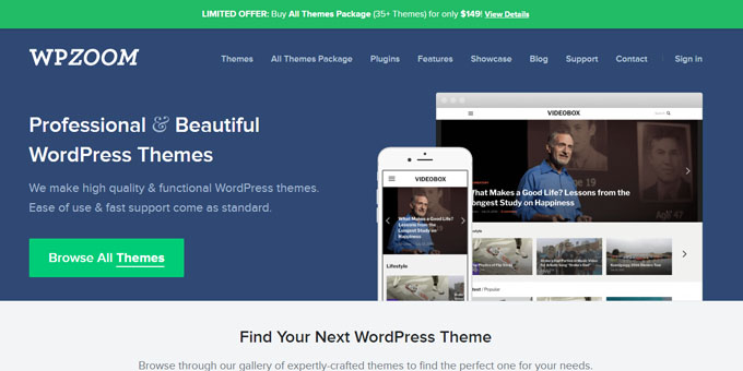 WPZoom - Best Places To Buy WordPress Themes