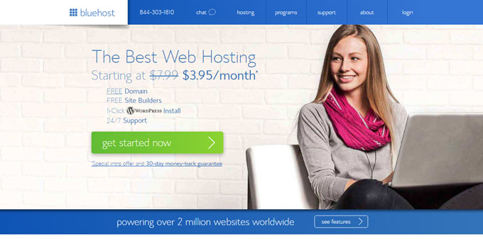 BlueHost - Best Domain Name Registrars 2016 and 2017