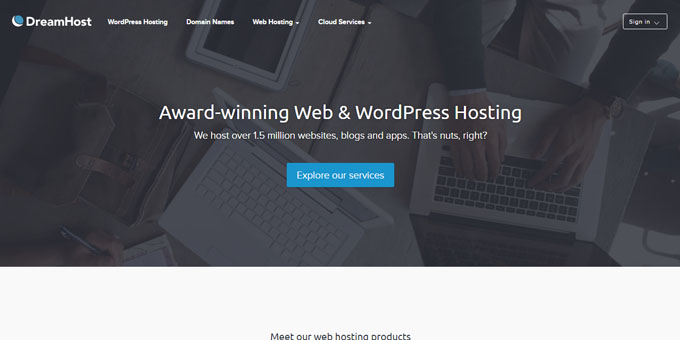 DreamHost - Best Domain Name Registrars 2018