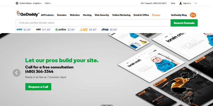 GoDaddy - Best Domain Name Registrars 2016 and 2017