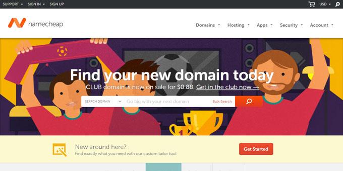NameCheap - Best Domain Name Registrars 2018