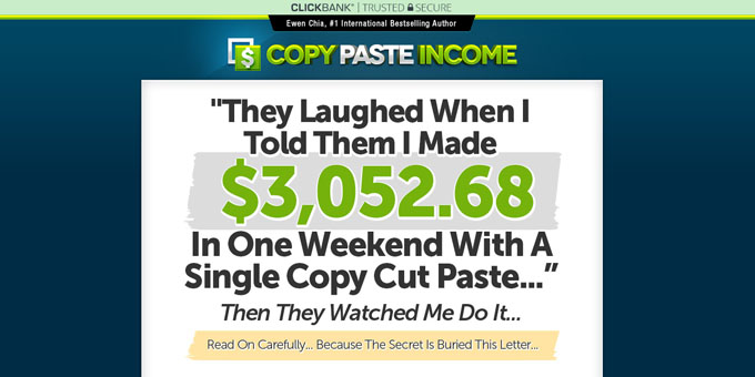 Is copy paste income a scam an insider review bloggingthing for In this house copy and paste