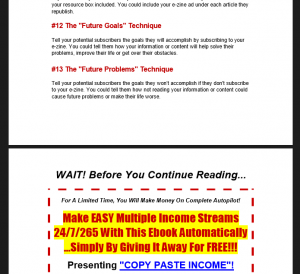 Ewen Chia Copy Paste Income - eBooks Preview