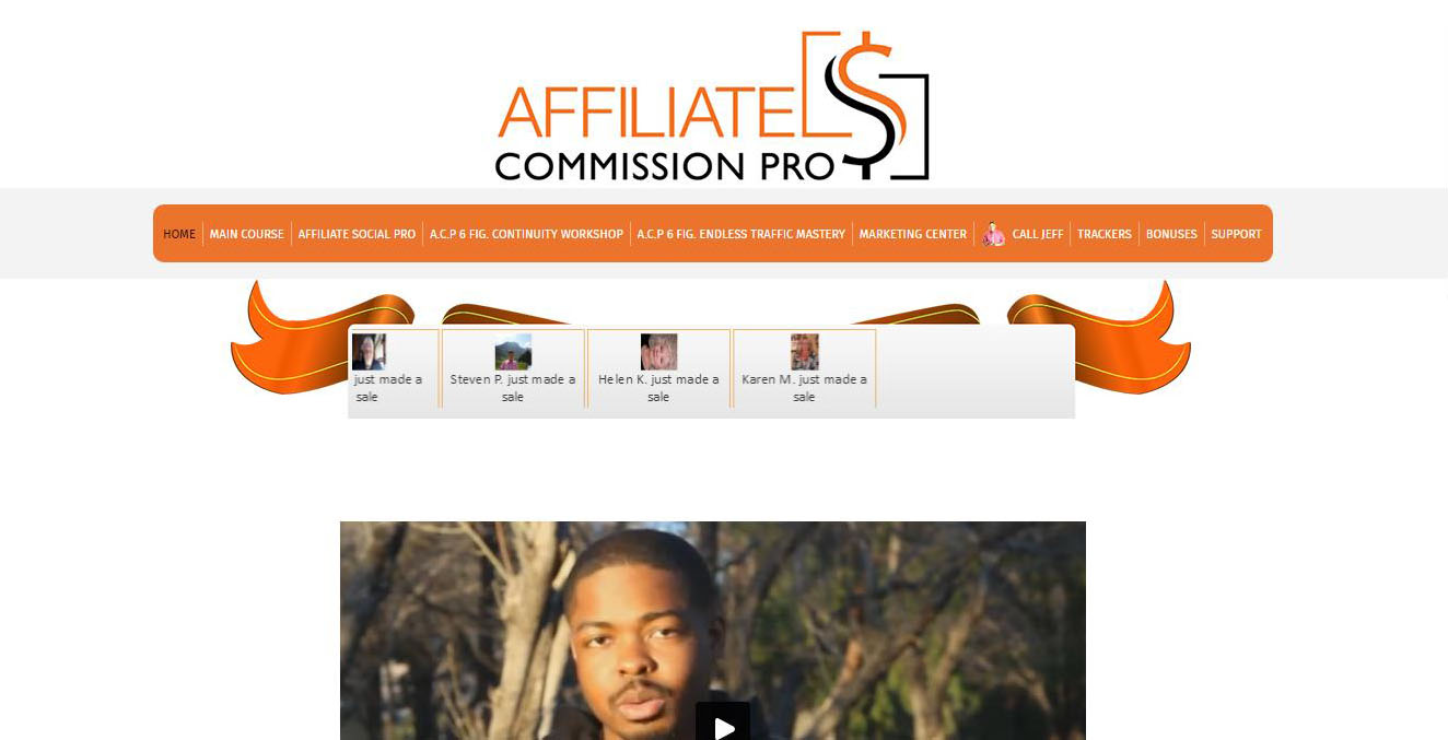 Affiliate Commission Pro - Members Area