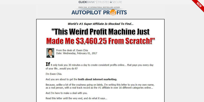 Ewen Chia Autopilot Profits Review - Website