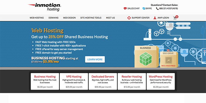 InMotion Hosting - Best Web Hosting for Blogs