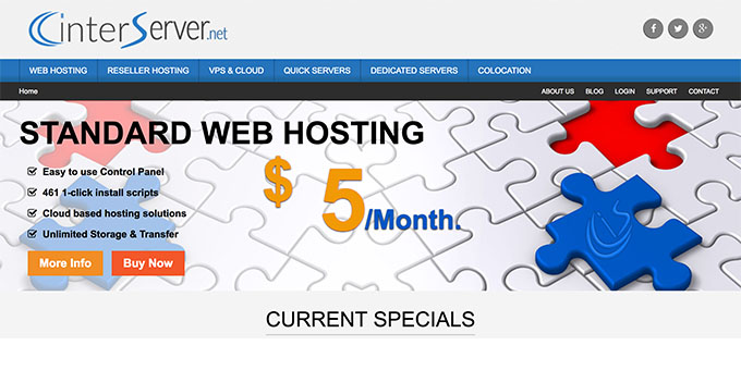 InterServer - Best Web Hosting for Blogs