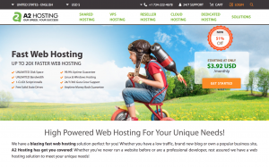A2 Hosting Homepage - Monthly Web Hosting