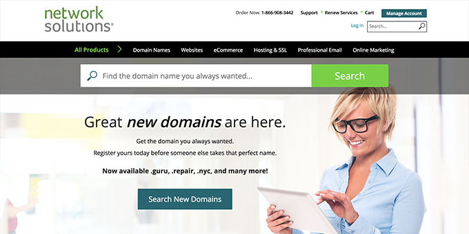 Network Solutions - Best Domain Name Registrars