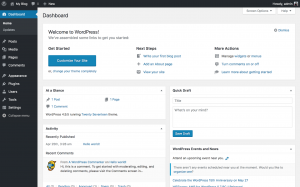 WordPress Dashboard - Monthly Web Hosting